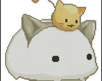 Kawaii Anime Cross Stitch PDF Pattern