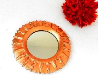 "6"", Wall Mirror, Sunburst Mirror, Decorative Wall Mirror, Round Mirror,Small Decorative Mirror, Decorative Mirror, Copper Mirror,Item CLSM50"