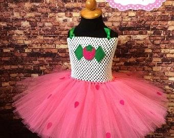Strawberry Shortcake Tutu Dress. Strawberry shortcake birthday. Strawberry shortcake costume. Strawberry birthday. Strawberry tutu.