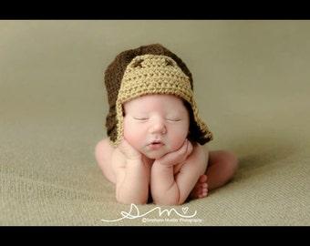 Aviator hat,crochet hat, crochet aviator hat, photography prop, newborn hat,newborn aviator, aviator, crochet hat, crochet photography