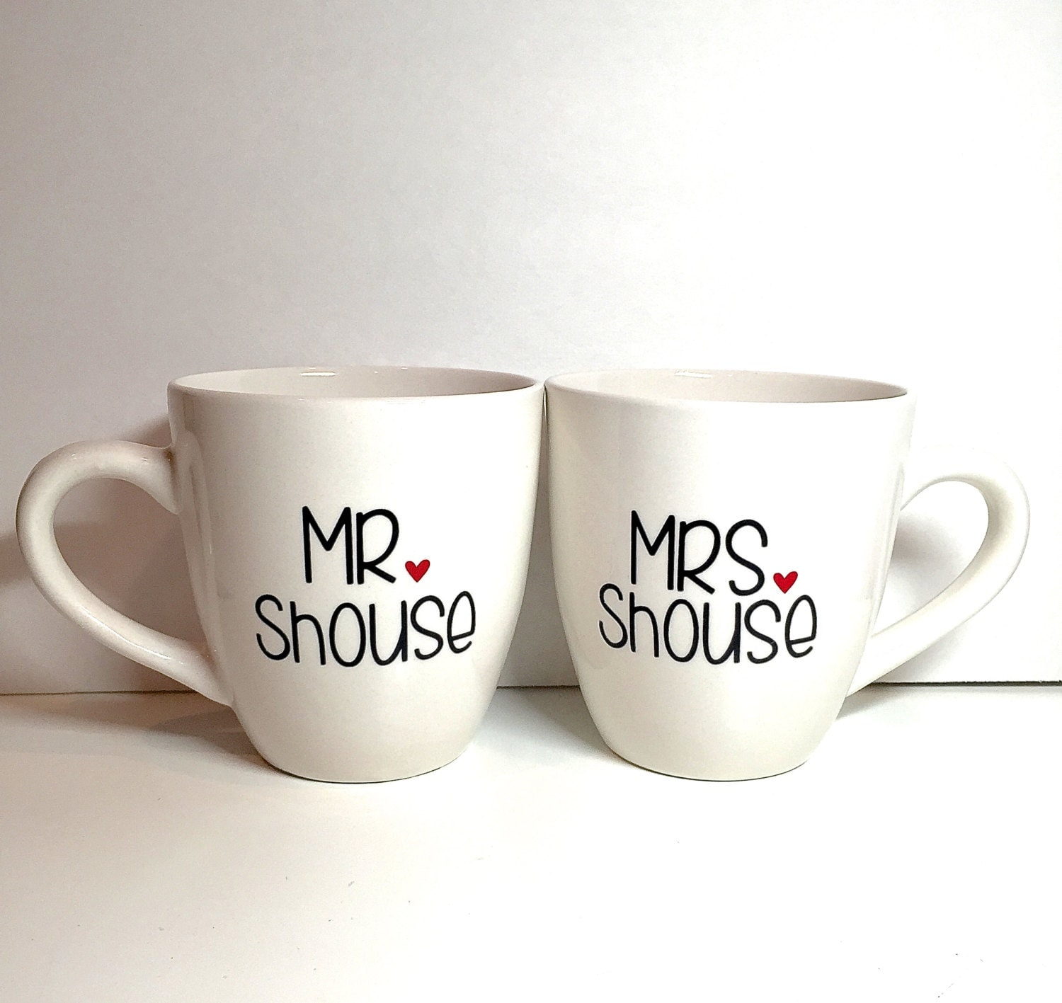 his and hers mugs mug set customized coffee by. Black Bedroom Furniture Sets. Home Design Ideas