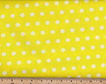 Little Dot Yellow Polka Dot Sewing Quilting Fabric by the Yard #505