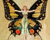 Gloss Ceramic Tile - Vintage Art Nouveau Reproduction Tile - The Flapper (1922) - Various Sizes