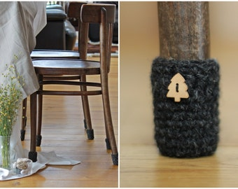 Chair socks,home decor , 8 wool chair protectors, chair leg socks, table socks, furniture accessories, home decor, Eco-friendly gift