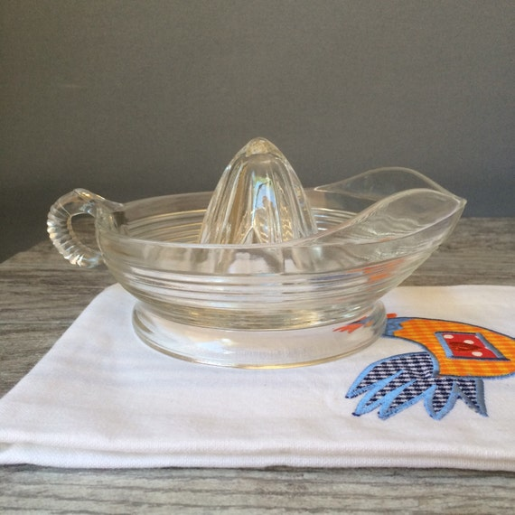 Glass Citrus Juicer Electric ~ Vintage s glass citrus juicer retro kitchen decor