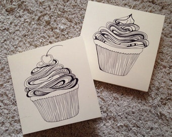 Cupcakes Anniversay Thank You Birthday Card