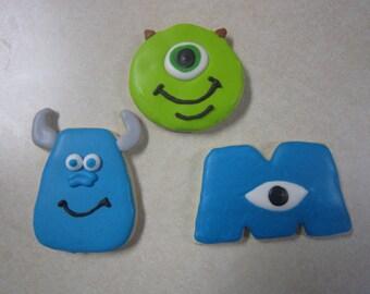 1 Dozen Monster's Inc. Fan Art Cookies
