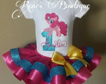 Pinkie Pie My Little Pony Ribbon Tutu Set