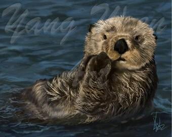 Otter 8 X 10 print