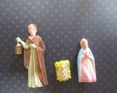 Christmas Nativity Miniatures, Baby Jesus NOS Vintage Package