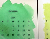 2016 Watercolor Desk Calendar - Calendar Gift - Calendar with Easel Stand