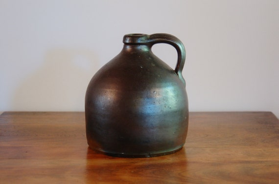 Antique Brown Salt Glazed Stoneware Beehive Moonshine Whiskey