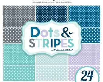 Echo Park Paper DOTS & STRIPES Winter 6x6 Scrapbook Paper Pad (2 Sizes of Dots/No Stripes) DS15056