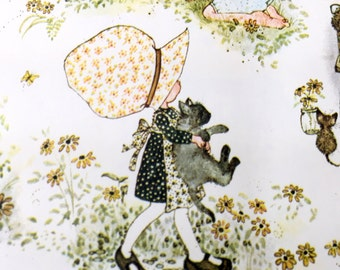 Holly Hobbie Gift Wrap, Sunbonnet Sue Wrapping Paper, Little Girl in Bonnet Gift Wrap, Kids Design, Little Girl Playing Cooking Gardening