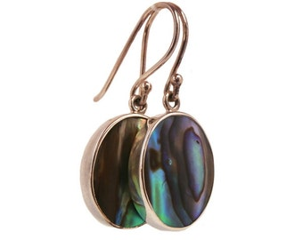 Sterling Silver Abalone Drop Earrrings