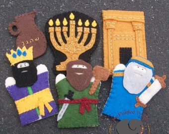 Hanukkah Finger Puppets Pattern Set Of 6 Children S Felt