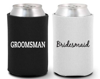 Bridesmaid Can Coolers - Groomsman Can Coolers (BG1009) Bridesmaid Gift - Groomsmen Gift - Bridesmaid Coolies - Groomsmen Coolies