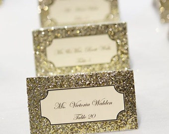 Glitter Wedding Invitation Exquisite Cards With Personalized Guest Names, A Set Of 50