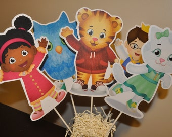 Daniel Tiger Large Centerpiece and Cake Topper set of 5
