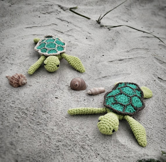 Cute Easy Amigurumi Patterns : Amigurumi Crochet Pattern Easy Cute Baby Sea Turtle