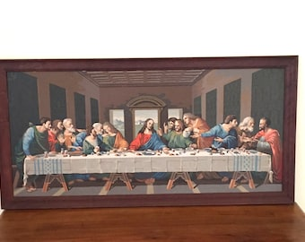 Mid Century  Paint By Number Last Supper Painting