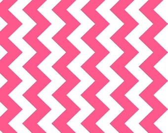 Riley Blake - C320-101 NEO Medium Chevron Neon Pink