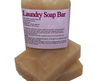 Laundry Bar Soap-Shred the soap and add borax & washing soda! Works fantastic on dirt and grease! by MJR Soaps