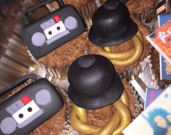 Hip-Hop Fondant/Gumpaste cupcake toppers