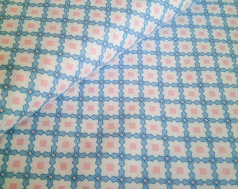 "0,5 m Organic printed fabric Cotton  Poplin ""Kachel romantic"" 145 cm w GOTS"
