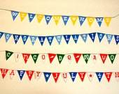 Miniature Happy July 4th, Welcome Home, Congratulations OR Cinco De Mayo Party Banner (1/6 or 1/12 scale) bunting pennant of