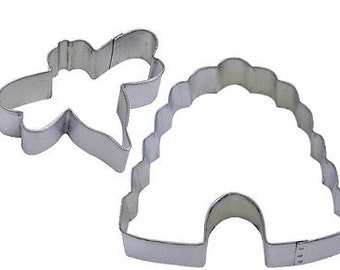Honey Bumble Bee and Beehive Cookie Cutter Set