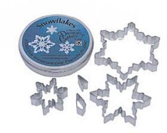 5 Piece Snowflake Cookie Cutter Set in Tin