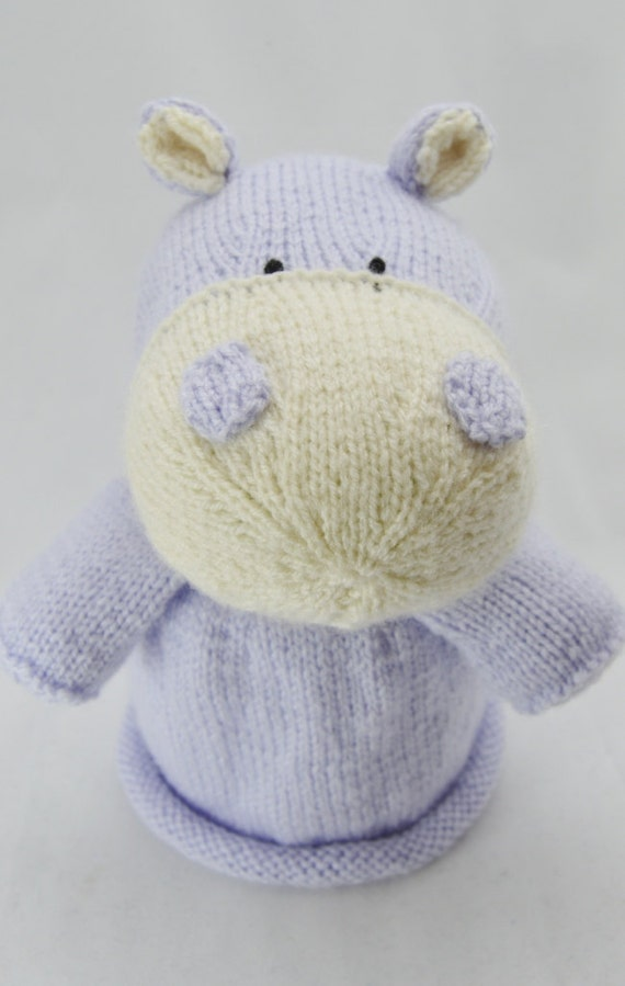 Knitting Pattern Hippo Toilet Roll Cover