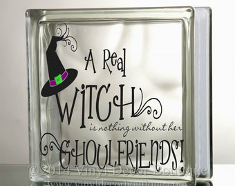 Ghoulfriends Glass Block Decal Tile Mirrors DIY Decal for Glass Blocks Ghoulfriends