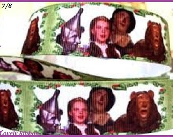 WIZARD OF OZ, Grosgrain Ribbon, 1 inch, Dorothy, Toto, Craft, Dummy clip, Lanyard
