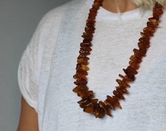 Vintage, butterscotch amber necklace.Graduated beads.Art Deco.