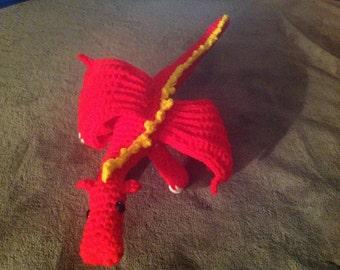 Firestorm Dragon Amigurumi Toy