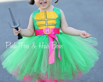 Teenage mutant ninja turtle costume- tmnt costume- pink tmnt dress- tmnt tutu dress-tmnt tutu
