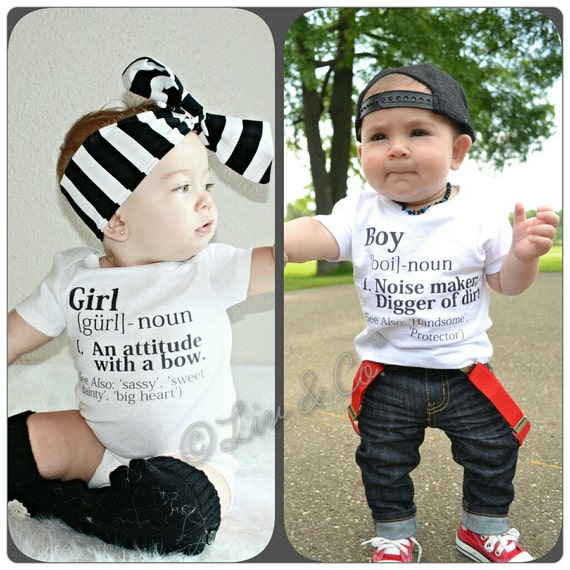 Funny Twin Clothes Boy Girl Twin Outfits Girl by ...