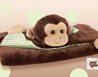 Baby Bearington Giggles Belly Blanket, Baby Blanket, Baby Cover,Monkey Blanket,