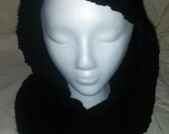 16---Black Scoodie  (hoodie/scarf combo)