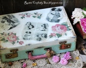 Old Vintage Suitcase-Wedding Card Suitcase-Wedding Gift Card Holder-Rustic Wedding Decor-Home Storage Suitcase
