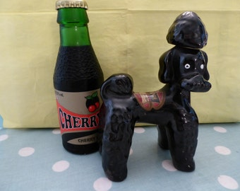 RYNBENDE  '50 years old' cherry brandy ceramic poodle 1966. REDUCED and FREEPOST!