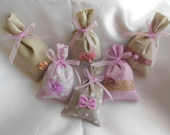 """sachet bag Lavender/lavender """"Lilac"""" Collection - style Shabby Chic (Ref: 11/15)"""