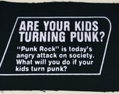 TURNING PUNK? patch goth horror punk Free Shipping