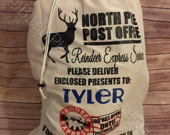 Personalized Kid's - North Pole Christmas Santa Sack - Two Sizes