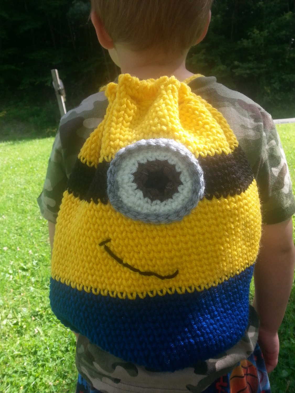 Crochet Minion Bag Pattern : Minion Drawstring Bag Crochet PATTERN