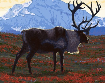 Alaska Caribou (Art Prints available in multiple sizes)