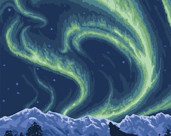 Northern Lights - Dawson, Alaska (Art Prints available in multiple sizes)