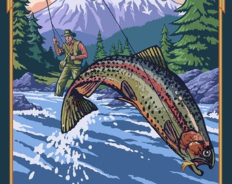Washington Fisherman (Art Prints available in multiple sizes)